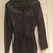 NEW! ANDREW MARC BLACK GENUINE LEATHER JACKET! WOMENS S. $399.00+ MUST SEE!!!