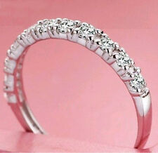 1/25 ct Diamond Sterling Silver Wedding Engagement Ring Available Size 4.5 to 10