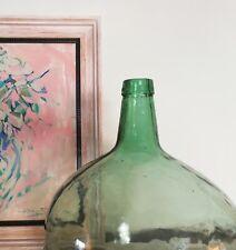 Big antique Spanish 16 L. Demijohn - carboy - blown glass Bottle -