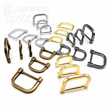 Molded solid cast heavy duty D rings for 20 24 34 mm webbing different colours