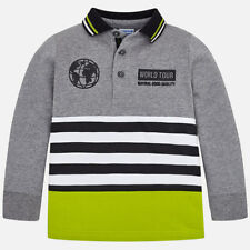 Mayoral Boys Mix Long Sleeved Polo Shirt (04110) Aged 2-8 New Season