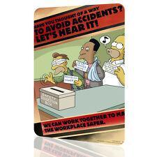 """METAL TIN SIGN The Simpsons """"Lets Heard It"""" Security Collection 6 Decor Wall Art"""
