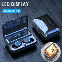 Bluetooth 5.0 LCD Headset TWS Wireless Earphones Mini Earbuds Stereo Headphones