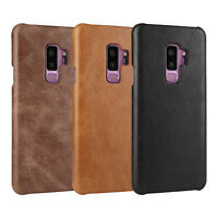 Fashion Vintage Genuine Leather Back Case Cover For Samsung Galaxy S9/S9 Plus