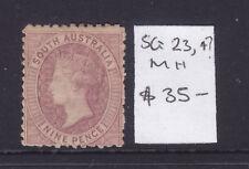 South Australia: 9d Qv Sg 123 Or 124 Wmk Star Mh