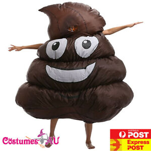 Adult Inflatable Poo Costume Creepy Funny Stag Do Hens Party Night Poop Blow Up