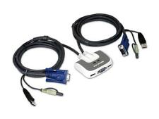 IOGEAR GCS632U 2-Port USB PLUS KVM Switch w/ Built-in KVM Cables & Audio Support