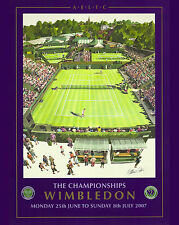 2007 Wimbledon Tennis Tournament  Ad Poster, 8x10 Color Photo