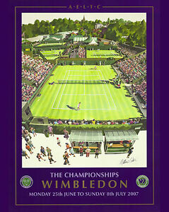 2007 Wimbledon Tennis Tournament  Ad Poster, 8x10 Color Photo