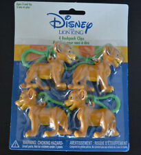 """Set of 4 Disney """"The Lion King"""" SIMBA 4 BACKPACK CLIPS Party Favors -  2002"""