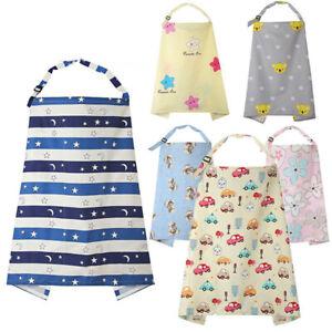 Mum Breastfeeding Nursing Apron Cover Up Baby Poncho Shawl Udder Blanket Cotton