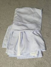 "Restoration Hardware Baby Crib Skirt Cloud Blue And White Linen 15"" drop"