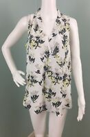 NWT Womens Vince Camuto Floral Print Sleeveless Blouse Top Sz M Medium