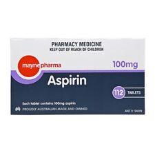 ツ MAYNE PHARMA ASPIRIN 100MG 112 TABLETS TABS HEART HEALTH PREVENT HEART ATTACK
