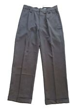 Mens 1940s Swing Vintage Style Grey Fishtail Look Trousers With Turn Up Hems