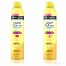 Neutrogena Beach Defense Sunscreen Spray Spf 30 8.5 Ounce (250ml) Lot Of 2 New
