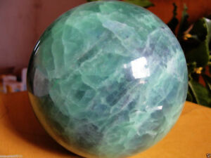 80mm +stand Glow In The Dark Stone crystal Fluorite sphere ball Iceland SPAR AAA