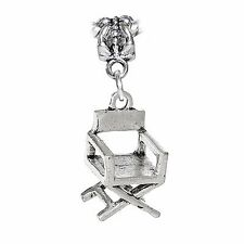Director's Chair Movies Acting Actor 3D Hollywood Dangle Charm for Euro Bracelet