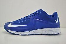 Mens Nike Lunar MVP Pregame 2 Turf Shoes Size 13 Blue White 684690 410 Baseball