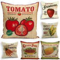 "Pillow Case Vintage Style Vegetab Sofa Tomato Home Decor Waist Cushion Cover 18"""