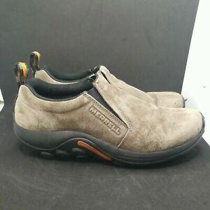 Merrell Jungle Moc Gunsmoke Slip On Suede Leather Shoes J60787 Size 9.5 Men's