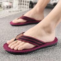 Men's Slippers Summer Flip Flops Beach Anti-Slip Trend Casual Comfy Flat Sandals