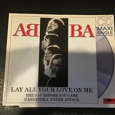 Rare German CD ABBA Lay All Your Love On Me,  Day Before You Came POLYDOR