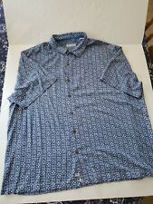 35783 Mens Tommy Bahama Relax 100% Silk Blue Hawaiian Shirt Size 4XB BIG 4X