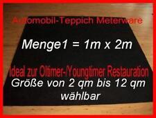 12,50 €/m² Neu PKW Teppich Autoteppich Meterware schwarz Meter Oldtimer