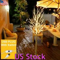 US LED Birch Tree Light USB Operated Home Party Wedding Holiday Xmas Gifts Decor