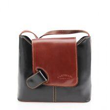 Women Leather Vera Pelle Square Cross Body Bag Ladies Side Shoulder Strap Bag