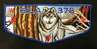 GILA OA LODGE 378 BSA YUCCA COUNCIL CHINESE ZODIAC XU (DOG) MEXICAN WOLF FLAP