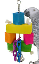 1664 Block Stacker Bird Toy parrot cage toys cages cockatiel conure african grey