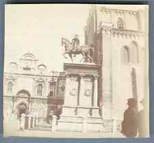 Italia, Venezia, Statua di Bartolomeo Colleoni  Vintage citrate print. Vintage I