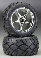 Traxxas 2478R Bandit Rear Anaconda Street Tire & Chrome Tracer Wheel Set
