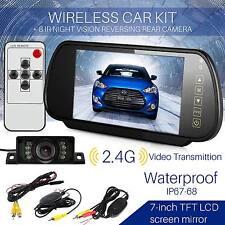 """Wireless vista posteriore auto KIT 7"""" MONITOR LCD + HD IR visione notturna telecamera di sicurezza ruotabile"""
