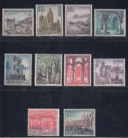 ESPAÑA (1964) NUEVO MNH SPAIN - EDIFIL 1541/50 TURISMO CASTILLOS MONUMENTOS