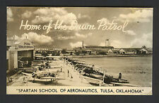xRARE Spartan School of Aeronautics Real Photo 1939 SIGNED by 1st Director RPPC