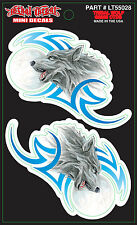 """Lethal Threat Tribal Wolf Set, Right & Left Decal Sticker Size 2.0"""" x 3.0"""""""