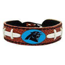 Carolina Panthers Logo Bracelet Wristband Genuine Football Leather NFL New