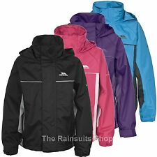 TRESPASS KIDS WATERPROOF HOODED RAIN COAT JACKET BOYS GIRLS AGE 3-13yrs