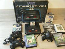 RETRO BOXED SEGA MEGA DRIVE II BUNDLE CONSOLE LEADS 2 CONTROLLERS AND 6 GAMES