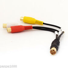 50pcs 18cm TV Male Plug to 3 x RCA (Red+Yellow+White) Female Jack Adapter Cable