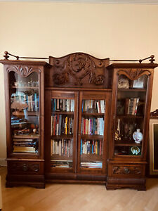 Beautiful Victorian Eastlake Mahogany Bookcase, Curio or China Cabinet in NYC