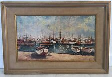 Sailing Harbor Of Cannes Segelhafen Von Cannes Painting Else Lohmann Signed
