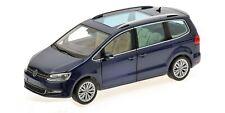 VW Sharan 2010 blau metallic 1:18 Minichamps neu & OVP 110051000