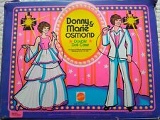 Donny and Marie Osmond Double Doll Case 17x13 imches 1978 made I'm Usa