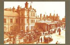 Postcard Nostalgia June 1906 DERBY Railway Train Station Reproduction Card
