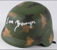 Tom Berenger signed Vietnam era Army replica Platoon helmet. MAB certified