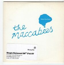(EZ774) The Maccabees, About Your Dress - 2007 DJ CD